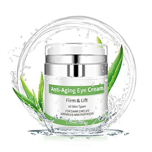 51to1fDCXoL - Eye Cream - Under Eye Treatment for Anti Aging, Dark Circles, Eye Bag & Puffiness with 43% Aloe Vera, Retinol, Vitamin C & E Eye Treatment for Men/Women's Eye Cream