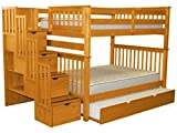 Bedz King Stairway Bunk Beds Full over Full with 4 Drawers...