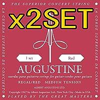 【2セット】AUGUSTINE REGAL RED SET x2set オーガスチン リーガル クラシックギター弦 【国内正規品】