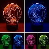 3D Lampe 7 Farbdimmen Gradient Ozeanien Karte LED Nachtlicht USB Touch Tisch Baby Schlafspielzeug Geschenke