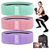 Resistance Bands for Legs and Butt,Exercise Bands Set Booty Bands Hip Bands Wide Workout Bands Resistance Loop Bands Anti Slip Circle Fitness Band Elastic (Set 3) (Green,Pink,Purple)