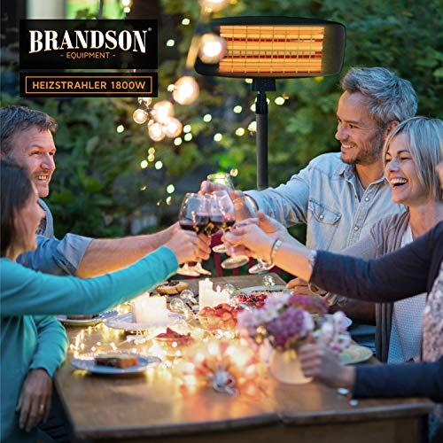 Brandson – Heizstrahler mit Fernbedienung | Wärmelampe Terrassenheizstrahler | 3 Bild 4*