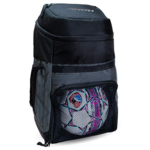 Soccer Bags With Ball Holder - Use As Soccer Backpack, Basketball Backpack, Volleyball Bag or Football Bag | Separate Cleats & Ball Pockets | Designed For Boys & Girls Ages 4-16 | Keeps It Organized