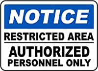 安全標識警告金属錫制限領域のみ署名通知壁装飾記号を承認