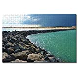 France Naturist Beach Cap-d'Agde Jigsaw Puzzles for Adults Kids 1000 Pieces Wooden Puzzle Game for Gifts Home Decoration Special Travel Souvenirs