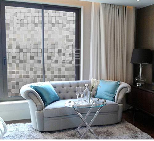 LMKJ Mosaico Europeo UV Puerta corredera estática Dormitorio Ventana Opaca privacidad película de Vidrio decoración de Vidrio película de Ventana para el hogar A73 50x200cm