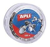 APLI 11726 - Puntine nichelate, 100 pezzi, argento