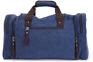 KTYXDE Travel Bag Outdoor Travel Luggage Bag Large Capacity Men and Women Casual Canvas Bag Splash-Proof Single Shoulder Messenger Bag, 53 X 25 X 29cm Travel Bag (Color : Blue)