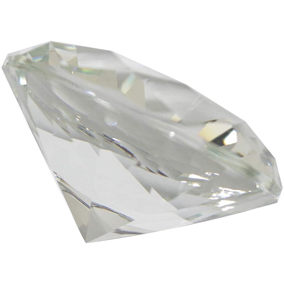 ファンネルウェブスパイダー鳩含意MATIERE ダイヤモンド型ガラスオブジェ100m