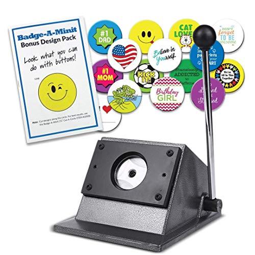 S Saumtop Grappige pons, handmatige buttonmaker, voor ronde buttons, stapelpapiersnijder voor Pro Button Maker, licht uitgesneden, voor het snijden van ca. 300 g papier geschikt 58mm