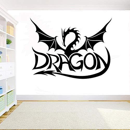 JXFM Drachen wandaufkleber Draco Vinyl Aufkleber Startseite wanddekoration Wohnzimmer Schlafzimmer Dekoration wandkunst wandbild entfernbare Aufkleber 77x57 cm