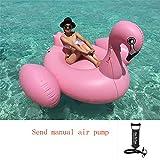 AA100 Überdimensioniertes aufblasbares Schwimmbad Wasserspielzeug schwimmende Boden-Ozean-Leckerwasserbett (mit Luftpumpe),manualinflation