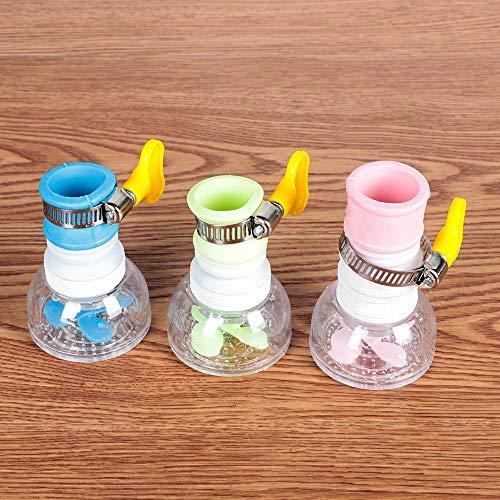 3 unids giratorio 360 grifo de agua ajustable a prueba de salpicaduras filtro de agua extensión filtro ducha baño grifo extensor accesorios de cocina para el hogar (color al azar)