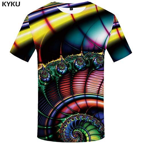 YUNDONGXIENV Fleur T-Shirt Hommes Crâne Vêtements Noir T-Shirts 3D T-Shirts Chemise Imprimer Hommes Vêtements d'été