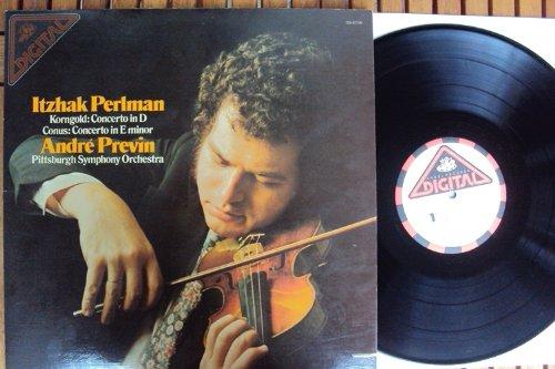Violin concerto in D und Violin concerto in e minor. Andre Previn, Itzhak Perlman Stereo