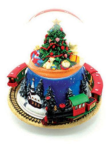Il mondo dei carillon Mmm GmbH, 858263 Carillon Palla di Neve con L'Albero di Natale e Treno