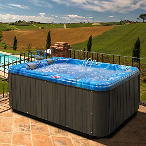 American Spas AM-534LP 3-Person Hot Tub, Summer Sapphire