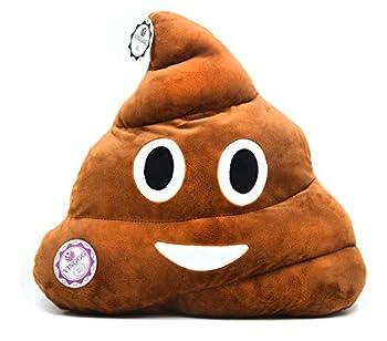 huge poop emoji pillow