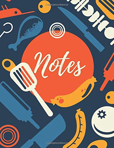 Grill Barbecue Cookbook Recipes Notes Notebook: Barbecue BBQ Cookbook and Grill or Smoker Recipes Journal to save recipes  8.5