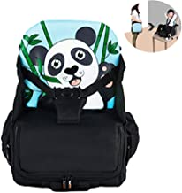 Travel Booster Seat,Feeding Booster Mommy Bag Foldable Large Capacity As High Chair for Babies Toddlers for Journeys,(Panda)12L,16kg,Blue
