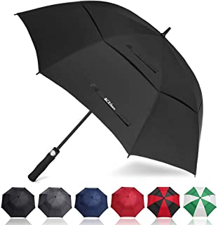 ACEIken Golf Umbrella Windproof Large 62 Inch, Double Canopy Vented, Automatic Open, Extra Large Oversized,Sun Protection Ultra Rain & Wind Resistant Stick Umbrellas