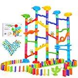 DraMosary 182Pcs Marble Run Premium Set,...