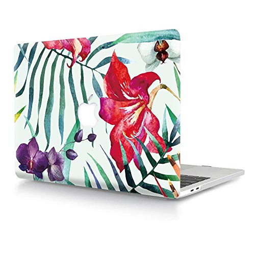 AJYX MacBook Pro 15 Inch Case 2015 2014 2013 2012 Release A1398, Plastic Pattern Hard Shell Cover Compatible with Old Version Mac Pro Retina 15 - Red Flower
