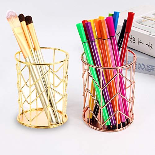 lapiceros para escritorio,Organizador de escritorio,Portalápices Multifuncional,Soporte para bolígrafo de Escritorio,compartimentos Soporte para bolígrafo,Organizador de Pluma (Oro rosado)