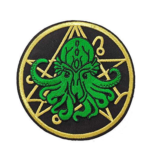 Parche bordado para planchar con logotipo de Cthulhu R'Lyeh H.P Lovecraft Horror