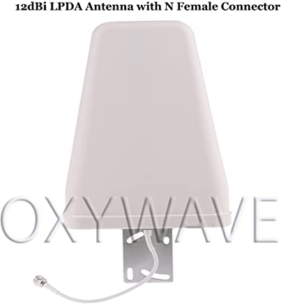 OXYWAVE 698-2700 MHz 12dBi 2G 3G 4G 5G Wide Band Directional Cellular Log Periodic Antenna (LPDA) Outdoor with N Female Connector