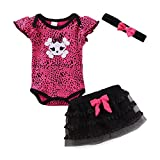 Mud Kingdom Thanksgiving Baby Girl Outfits 6-9 Months Clothes Sets Halloween Skull 9M Rose