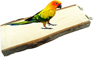 Cockatiels Wood Stand Platform,Bird Ledge,Budgies Flat Perches,Hamster Cage Corner Platforms,Natural Wooden Shelf Chew Toys,Chewing and Gnawing Trimming Beak Shaped for Parakeet,Conure,Lovebirds
