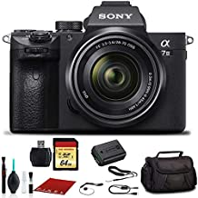 Sony Alpha a7 III Mirrorless Digital Camera with 28-70mm Lens (ILCE7M3K/B) with Bag, 64GB Memory Card, Memory Card Reader and More.