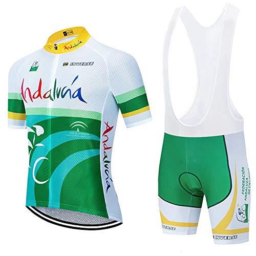 CQXMM Ropa Conjunto Traje Equipacion Ciclismo Hombre Verano con 3D Acolchado De Gel, Maillot Ciclismo + Pantalon/Culote Bicicleta para MTB Ciclista Bici