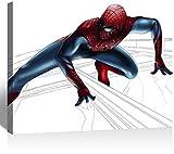 Anzonto Peintures sur toile L'Extraordinaire Spiderman Is Beau tableau sur toile 61 x 40,6 cm