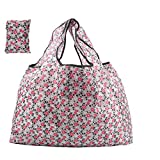 Folding Reusable Grocery Bags 3 Pack, X Large Capacity 50LBS Washable Waterproof Heavy Duty Tote, 5.7'x 3.7' Folded, Eco-Friendly Lightweight Compact Fashion Gift Shopper Bag