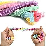 N-brand [ 6 Pcs ] Stretchy String Fidget Toy Set, Stress Relief Toys, Sensory