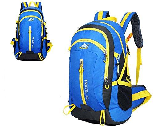 Nouveau voyage sac à dos Sacs bandoulière plein air sacs 40L alpinisme imperméable à l'eau , blue