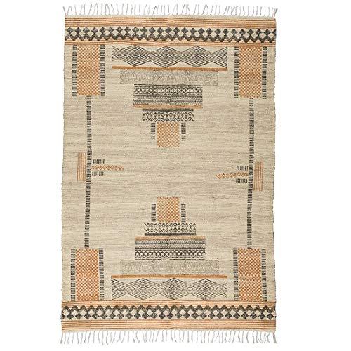 IB Laursen - Alfombra de Yute y algodón con patrón de Tinta (120 x 180 cm): Amazon.es: Hogar