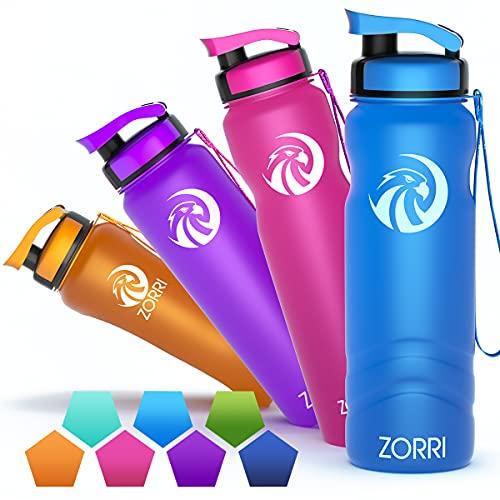 ZORRI Sport-Trinkflasche, 1200 ml, große tragbare Flaschen für Outdoor, Camping, Wandern, Radfahren, Fitnessstudio, Reisen