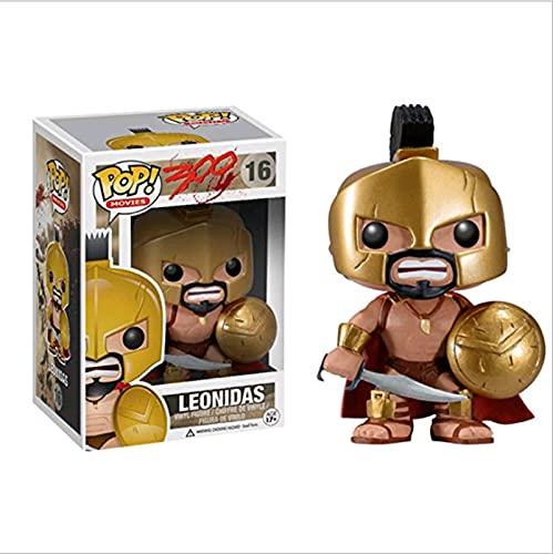 Pop King Leonidas 16# With Box vinyl actionfigurer och leksaksfigurer samlarobjekt modell leksak för barn
