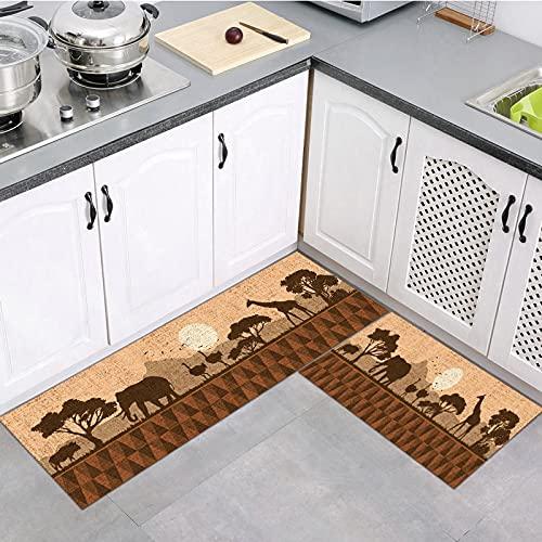 OPLJ Alfombrillas de Cocina Modernas alfombras de baño Antideslizantes alfombras de Entrada Lavables alfombras de Pasillo de Sala de Estar A8 40x60cm