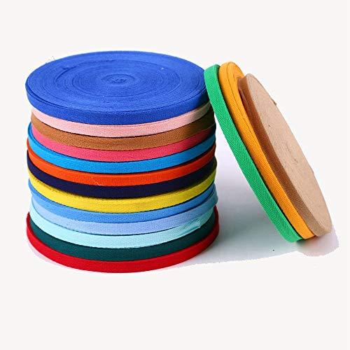 MoonyLI 20mm 56 Yards Twill CottonTape Cotton Gurtband Herringbone Twill Bias Bindeband Umreifung Cotton Twill Tape DIY Nähen Handwerk für Tasche Kleidung Zubehör (28 Farben)