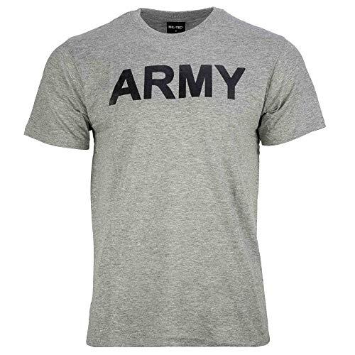 Mil-Tec Camiseta con Estampado Army (Gris/XL)