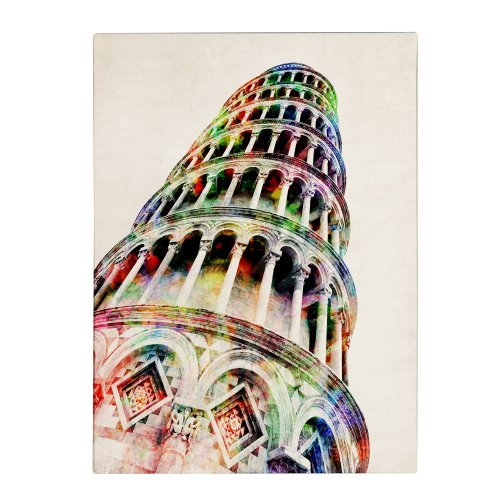 Leaning Tower Pisa by Michael Tompsett, 14 by 19-Inch Canvas Wall Art