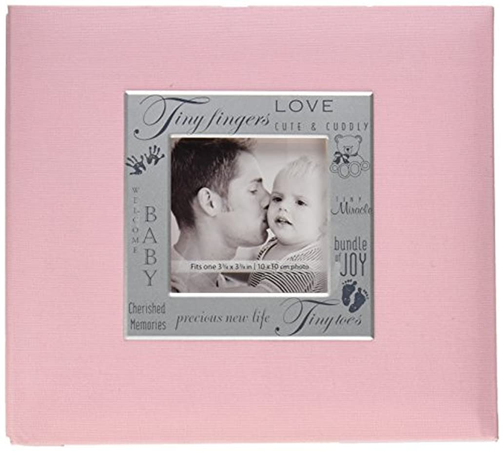 MBI Expressions Post Bound Album, 8 by 8-Inch, Baby Pink