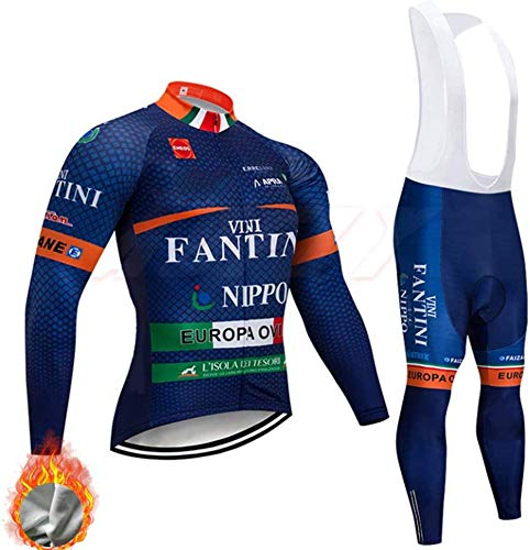 Long Sleeve Cycling Jersey,Winter Thermal Fleece Men Cycling Clothing Breathable Bicycle Wear Sets,D-S