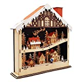 Wichtelstube-Kollektion Weihnachtsdeko Holz beleuchtet Weihnachtshaus Schwibbogen
