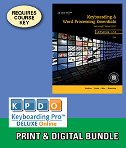 Bundle: Keyboarding and Word Processing Essentials, Lessons 1-55, 19th +Keyboarding Pro DELUXE Online Lessons 1-55, 1 te