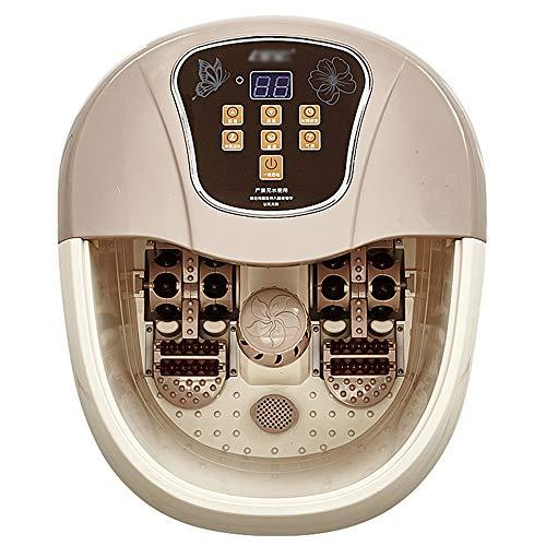 JDH Fußbad-Massagegerät, All-in-One-Fußbad-Badewanne mit Wärmeblasen Vibrierende Massagerollen Digitale Temperaturregelung für den Stressabbau bei müden Füßen